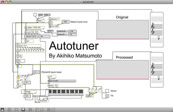 Autotune / オートチューン - Max/Msp Algorithmic Computer Music